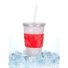 Kelímek s chladící vložkou DOUBLE 450 ml, červený Banquet