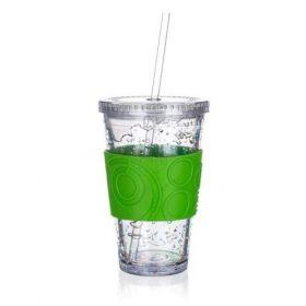 Kelímek s chladící vložkou DOUBLE 450 ml, zelený