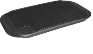 Oboustranná litinová grilovací deska rýhovaná/rovná - litinový tál