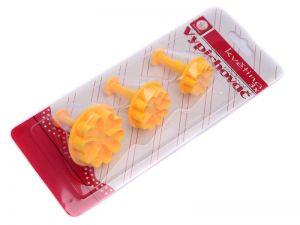 Vykrajovátka na marcipán, vypichovač květina 3 ks Smart Cook