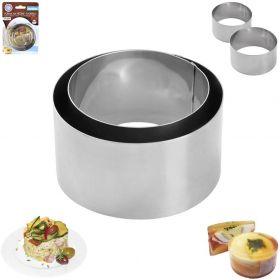 Forma na pečení a servírování tvořítko 2 ks kulatá