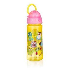 Láhev plastová OWLS Pink 500 ml