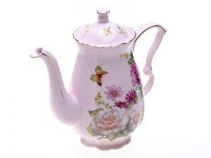 Konvička růžový porcelán vysoká