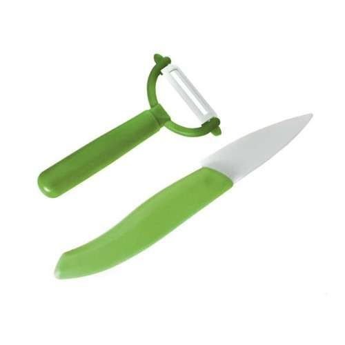 Banquet Keramický nůž a keramická škrabka Apetit Zelená