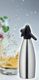 Láhev na sifon stříbrná - Láhev 1 l na výrobu sody SODAsiphon Standart Kayser