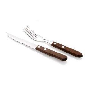 12D STEAKOVÝ SET BBQ Steakový příbor - Příbor na steak dřevěný