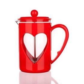 Konvice na kávu DARBY 800ml červená pro tzv. French press - Kafeterie