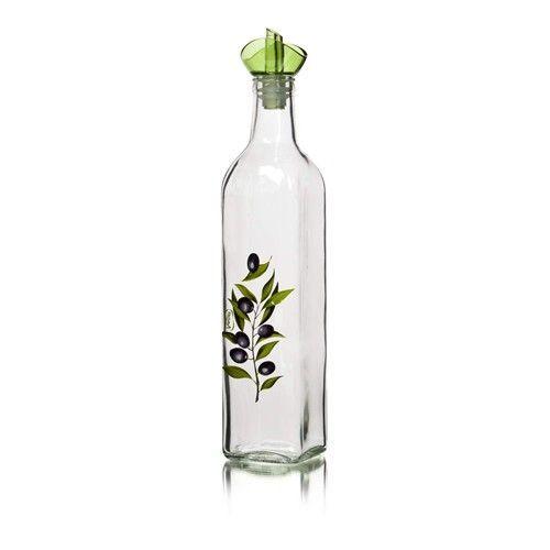 Láhev na olej Olive, dekorovaná 500 ml BANQUET