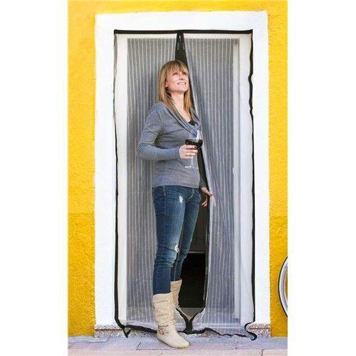 Síť na dveře proti hmyzu - bílá 100x210cm Brilanz