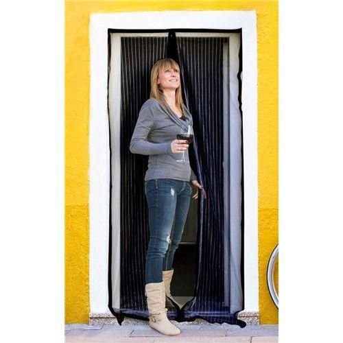 Síť na dveře proti hmyzu - černá 100x210 cm Brilanz