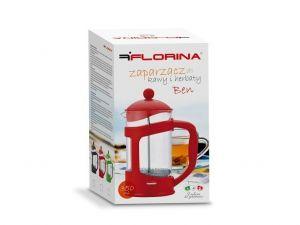 Konvice na kávu nebo čaj se sítkem Florina 350 ml červená pro tzv. French press