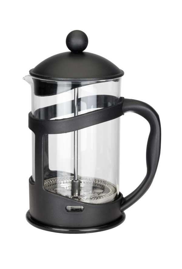 Konvice na kávu nebo čaj se sítkem Florina 350 ml černá pro tzv. French press . Kafeteria