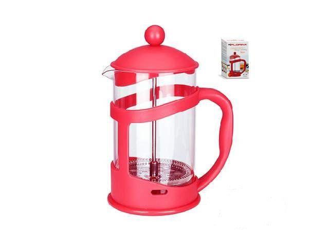 Konvice na kávu nebo čaj se sítkem Florina 800 ml červená pro tzv. French press