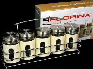 5-dílná sada kořenek Bonelo Cream Florina