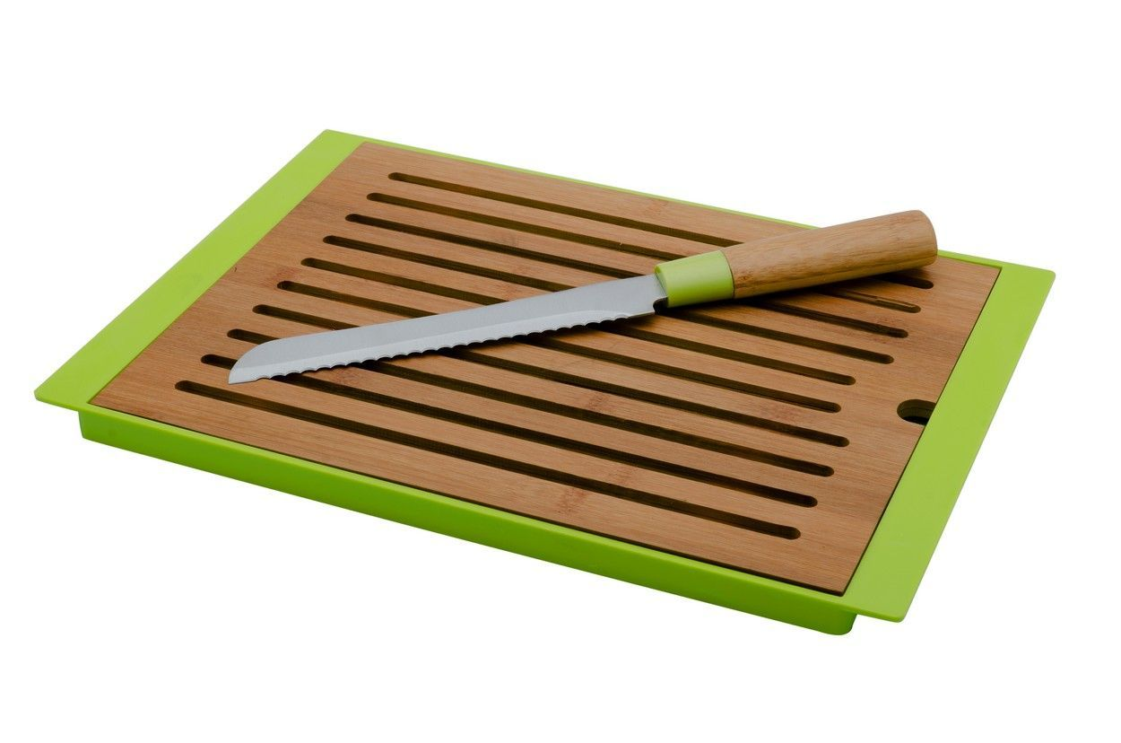 Bambusové prkénko na pečivo včetně nože Florina