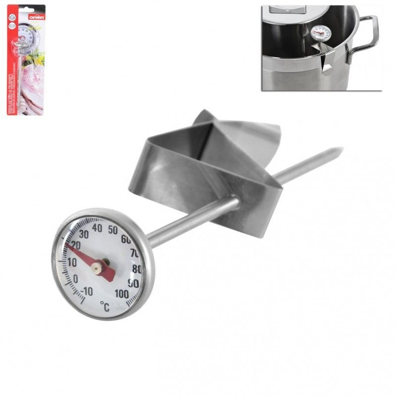 Teploměr kuchyňský s klipem vhodný pro šunkovar