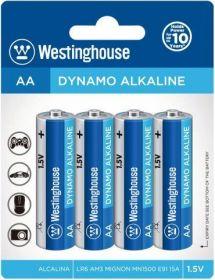 Baterie alkalická Westinghouse AA/LR6 1,5V Dynamo alkalická, blistr 4ks