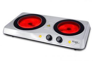 Dvouplotýnkový sklokeramický vařič VIGAN SKV2X - nerez