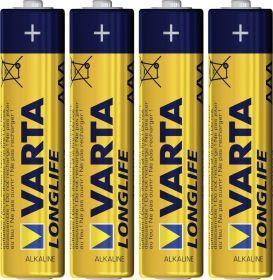 Baterie VARTA LONG LIFE LR03 alkalická 4 x AAA