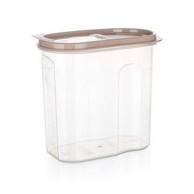 Dóza plastová dávkovací RIVA 1,75 l, hnědá