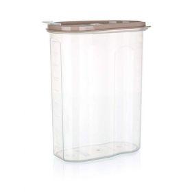 Dóza plastová dávkovací RIVA 2,4 l, hnědá