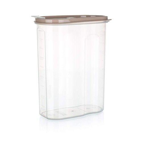Dóza plastová dávkovací RIVA 2,4 l, hnědá Banquet