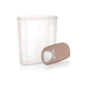 Dóza plastová dávkovací RIVA 4 l, hnědá Banquet
