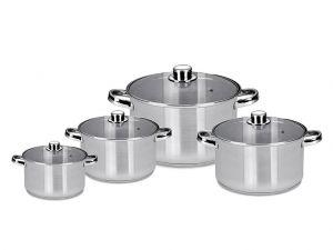 8 dílná sada nerez nádobí s poklicí Polpo Florina