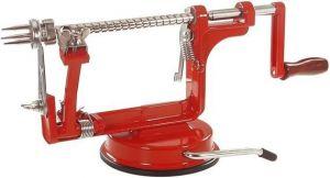 Loupač jablek ruční domácí 3v1, červený, plátky 4 mm, přísavka LT-N4232 R L.TELLIER