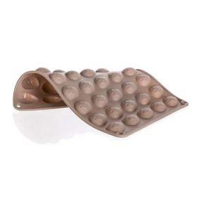 Silikonová foma - ořechy 40ks 34x26x1,4 cm, 165 gr CULINARIA, hnědá