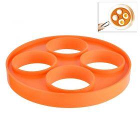 Silikonová forma - na sázená vejce volská oka  - Oranžová