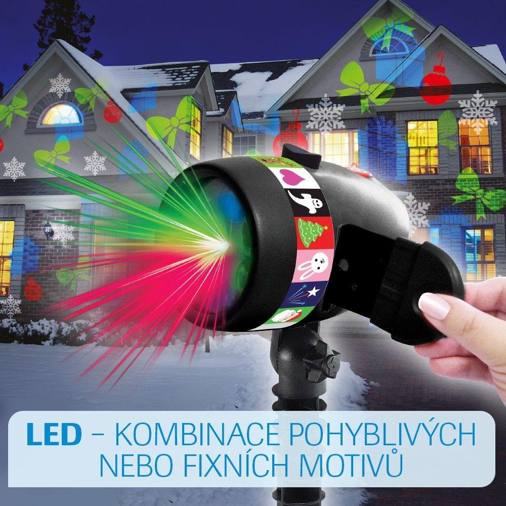 StarShower Slide Show LED Laserová lampa MEDIASHOP