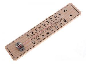 Teploměr dřevěný 22 cm