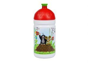 Zdravá láhev 0,5l KRTEK a jahody červená