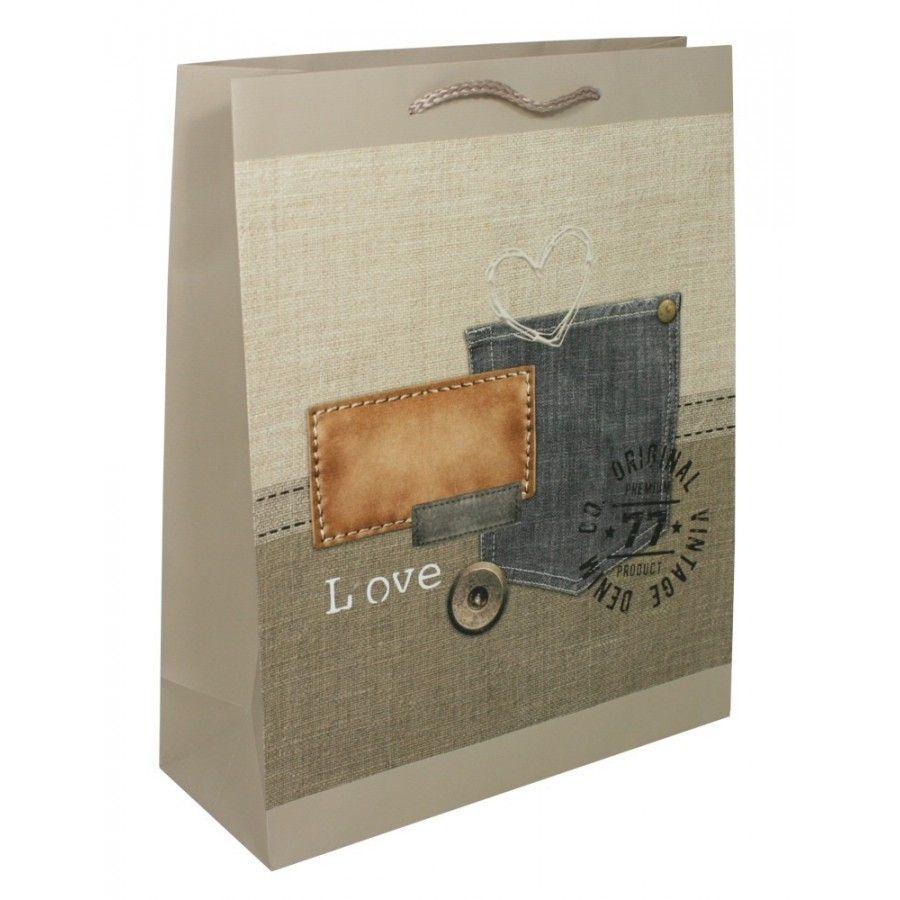 Dárková taška velká L - Denim Goba