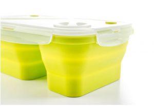 Dóza G21 silikonová dělená zelená