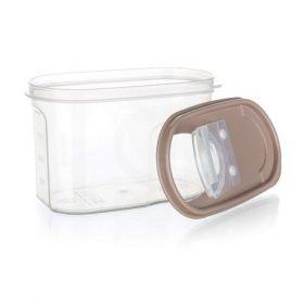 Dóza plastová dávkovací RIVA 1,2 l, hnědá Banquet