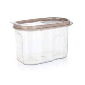 Dóza plastová dávkovací RIVA 1,2 l, hnědá