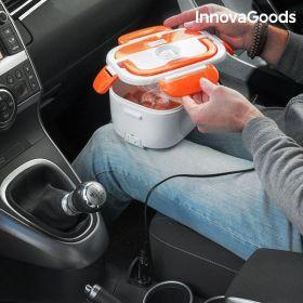 Elektrický Lunchbox do auta InnovaGoods bílo-oranžový