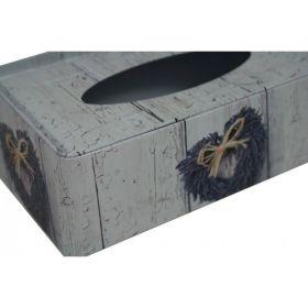 Plechová krabička na kapesníčky Levandule Srdce Goba