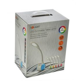 Solight LED stolní lampička stmívatelná, 6W, 256 barev, atmosférické podsvícení