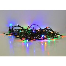 Solight LED venkovní vánoční řetěz, 200 LED, 20m, přívod 5m, 8 funkcí, časovač, IP44, vícebarevný