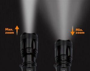 Solight nabíjecí LED svítilna, 600lm, XM-L2 T6, fokus, 2200mAh Li-Ion, USB nabíjení