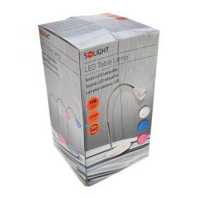 Solight LED stolní lampička, 2.5W, 3000K, podstavec, bílá barva