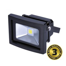 Solight LED venkovní reflektor, 10W, 800lm, AC 230V, černá