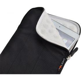 Solight nylonové pouzdro na tablet, e-čtečku do 8'', širokoúhlé, nárazuvzdorné polstrování, černé
