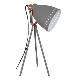 Solight stolní lampa Torino, trojnožka, 52cm, E27, šedá
