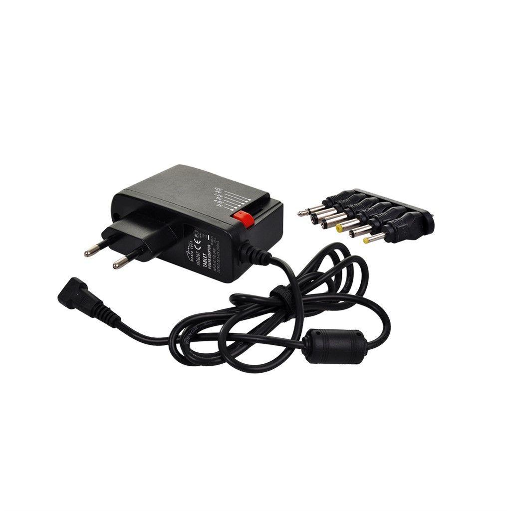 Solight univerzální síťový adaptér 1500mA, stabilizovaný, výměnné konektory