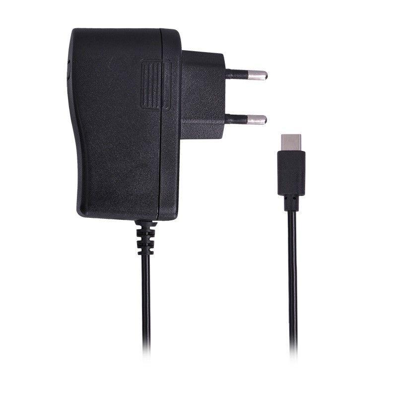 Solight USB nabíjecí adaptér, kabel s USB Typ-C konektorem, 5V/3A, AC 230V, černý