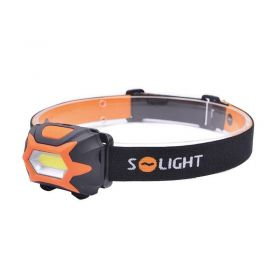 Solight čelová LED svítilna, 3W COB, 3x AAA